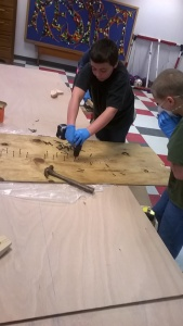 Clamping plywood scarfs.